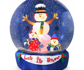 Giant Inflatable Snow Globes - They Actually Snow Inside!!