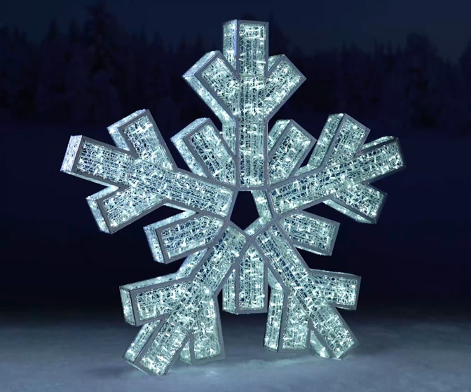 Giant LED Snowflake - Stands 6.5 Feet Tall!