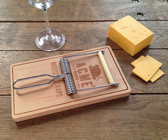 Giant MouseTrap Cheese Cutting Board