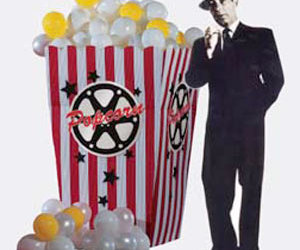 5' Giant Movie Popcorn Box with Popcorn Balloons