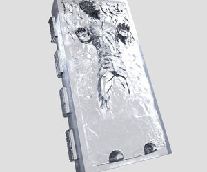 Giant Star Wars Han Solo in Carbonite Silicone Mold