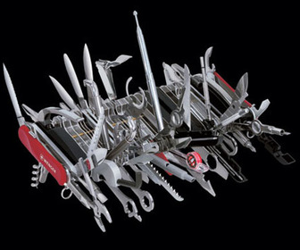 Wenger Giant Swiss Army Knife - 85 Tools, 100 Functions, 1 Knife