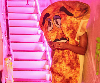 Giant Waving Slice of Pizza Costume