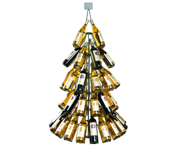 Giant Wine Bottle Christmas Tree Rack - Holds 60 Bottles!