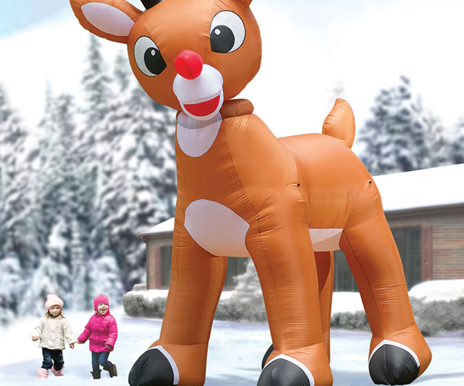 Gigantic 15 Foot Inflatable Rudolph the Red-Nosed Reindeer