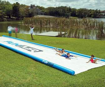 Gigantic Backyard Water Slide