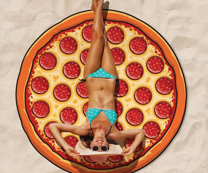 Gigantic Pepperoni Pizza Beach Blanket
