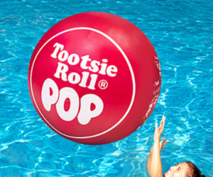 Gigantic Tootsie Roll Pop Beach Ball