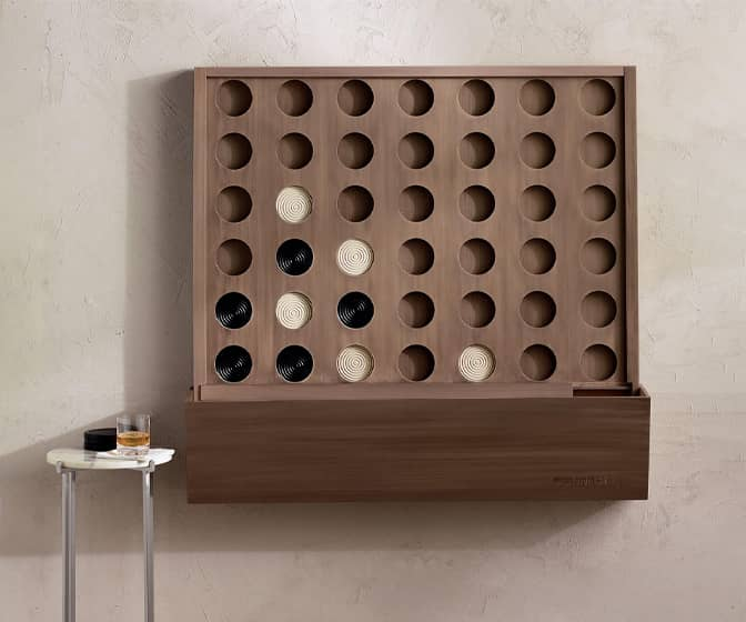 Gigantic Wall-Mounted Connect Four Game