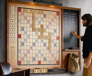 Gigantic Wall Scrabble Game