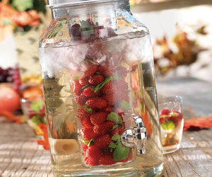 Glass Beverage Dispenser With Flavor Infuser