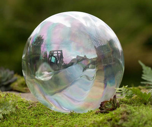 Realistic Giant Glass Bubble Garden Ornament