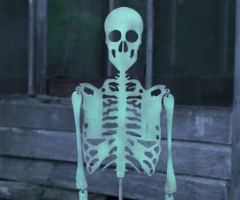 Glow-in-the-Dark Skeleton Yard Stake