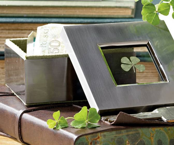 Good Luck Four-Leaf Clover Box