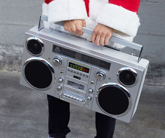 GPO Brooklyn - Portable 1980s Boombox w/ Cassette, CD, Radio, USB, and Bluetooth