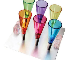 Gravity Magnetic Shot Glasses With Metal Tray