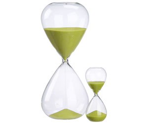 Green Sand Hour Glass