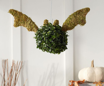 Halloween Vampire Bat Topiary
