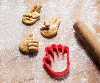 Hand Gestures Cookie Cutter