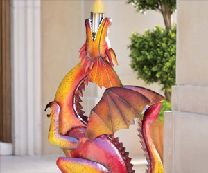 Handcrafted Metal Dragon Torch