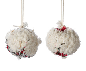 Hanging Bird Nesting Fabric Balls