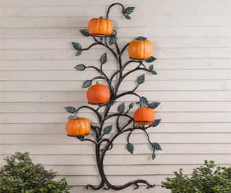 Hanging Tree Trellis with Pumpkin / Flower Pot Holders