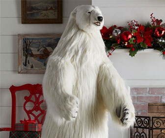 Hansa Animatronic Singing Polar Bear Statue