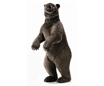 Hansa Life-Sized Standing Grizzly Bear Plush