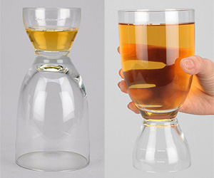 Happy Hour Glass - Dual Shot / Beer Glass