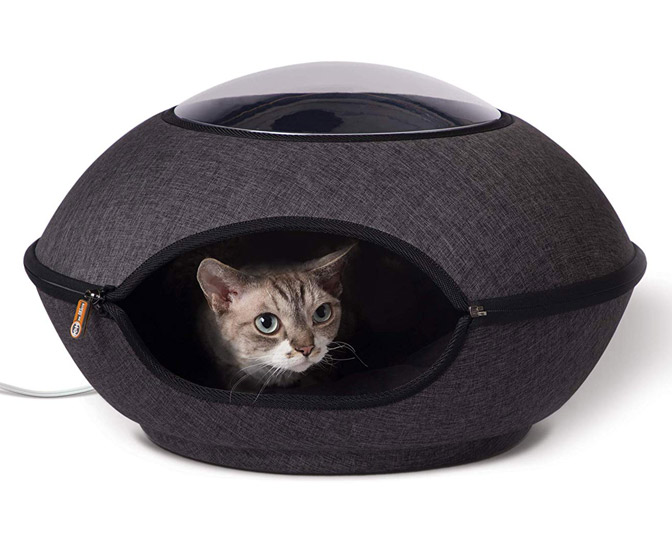 Heated Cat Pod With Lookout Window