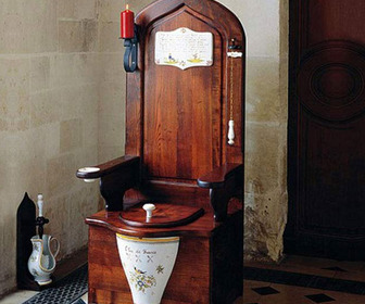 Herbeau Dagobert Wooden Toilet Throne