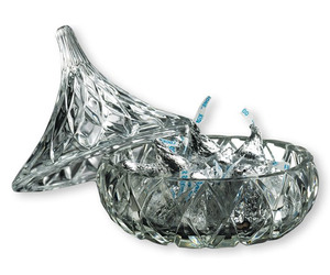 Hershey's Kisses Crystal Kiss Candy Dish