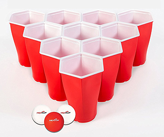 HexCup - Hexagon-Shaped Beer Pong Cups