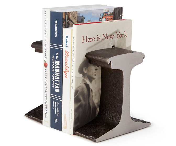 High Line Railroad Track Bookends
