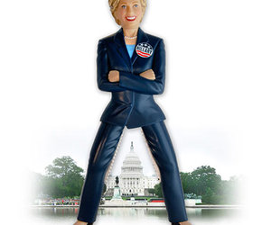 Hillary Clinton Nutcracker With Stainless Steel Thighs!