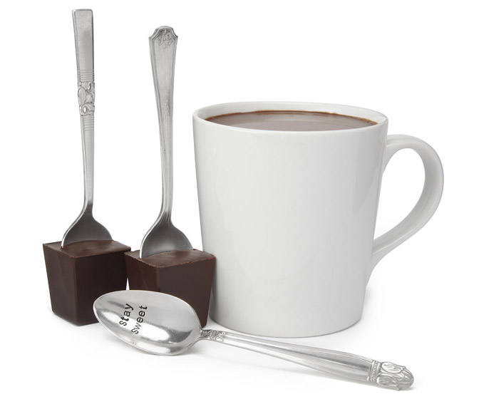 Hot Chocolate on a Vintage Silver Spoon