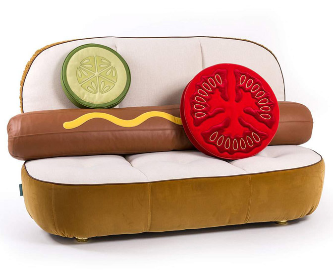 Gigantic Hot Dog Sofa