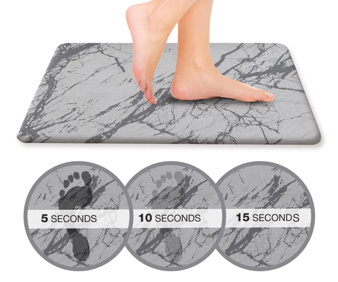 Hyper Dry Stone Bath Mat - Dries in Only 15 Seconds!
