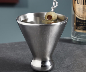 Ice Free Stainless Steel Martini Glass