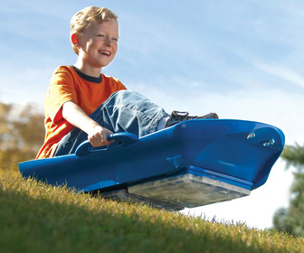 Ice Meister Slicer Sled - All-Season Sledding on Grass or Snow