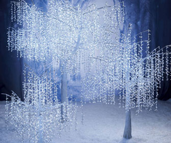 Illuminated Crystal Drop Trees