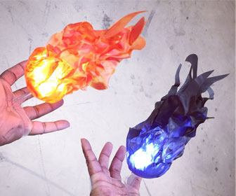 Illuminated Floating Fireball Props