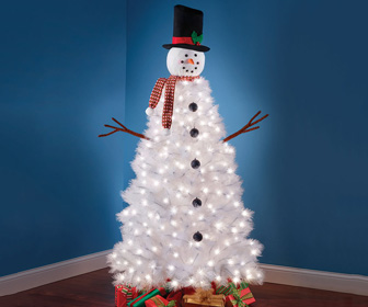 Illuminated Snowman Christmas Tree