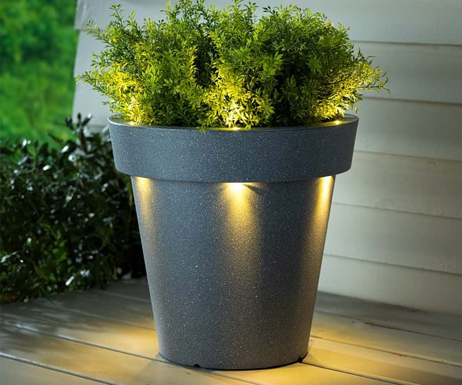 Illuminated Solar Light LED Planter