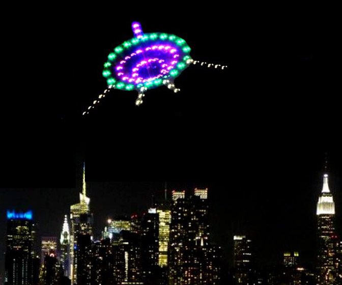 Illuminated UFO Night Kite