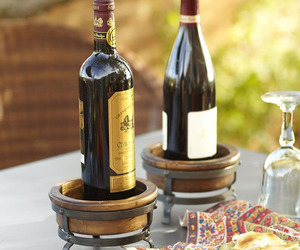Wooden coasters with built in bottle openers the green head - Anti spill wine glass ...