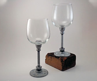 Industrial Wine Glasses