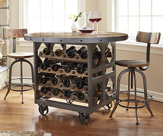 Industrial Wine Storage Pub Table