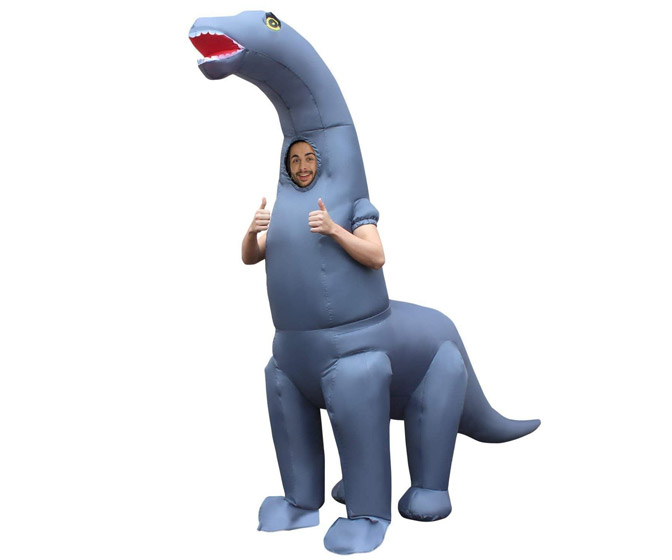 Inflatable Diplodocus Dinosaur Costume