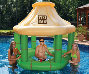 Inflatable Floating Swim-Up Tiki Bar